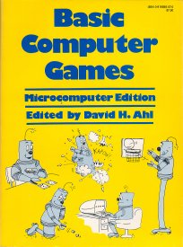 Basic Computer Games Book by David Ahl, the 1st Million-selling computer book in the world