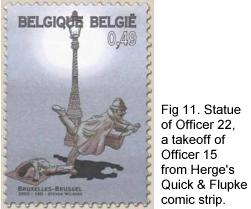 Statue of Officer 15 from Herge Quick & Flupke strip