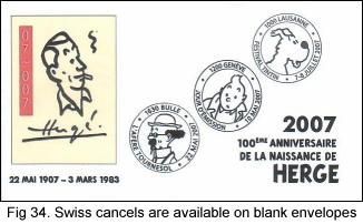 Switzerland makes cancels available on blank envelopes