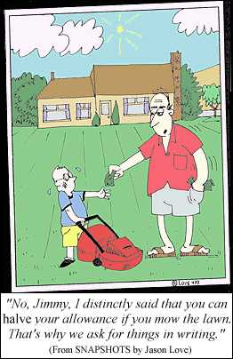 Early training to be a lawyer (cartoon by Jason Love)