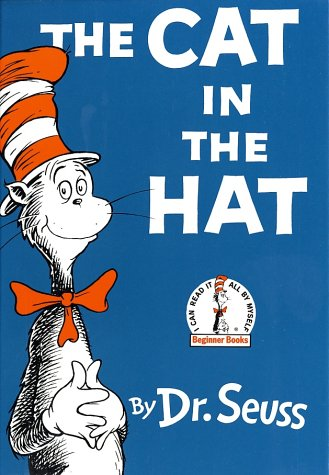 The Cat in the Hat book cover by Dr. Seuss.