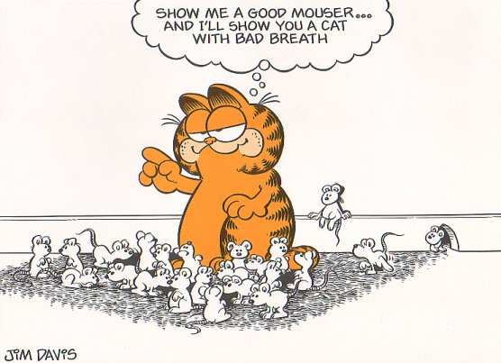 Garfield the Cat with mice cartoon