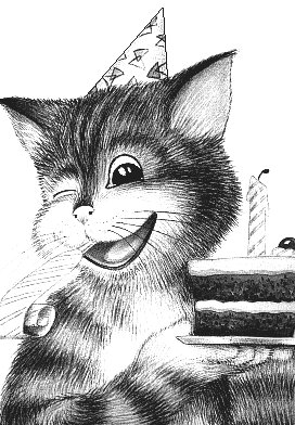 Party Cat Drawing Drawing Of A Party Cat