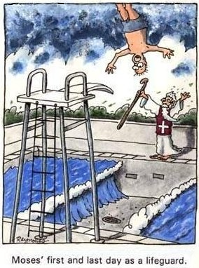 Moses as a lifeguard