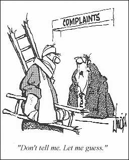 Joke About Falling Off Ladder Cartoon