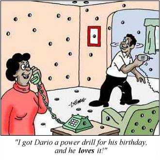 Power drill cartoon
