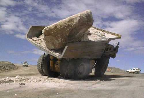 Overloaded Ore Truck