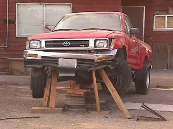Using Wood Block On Floor Jack.. | TexAgs