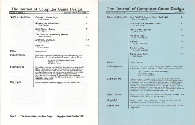 crawford on game design Christopher crawford (born 1950) is a computer game designer and writer he designed and programmed several important computer games in the 1980s, including eastern front (1941) and balance of power.