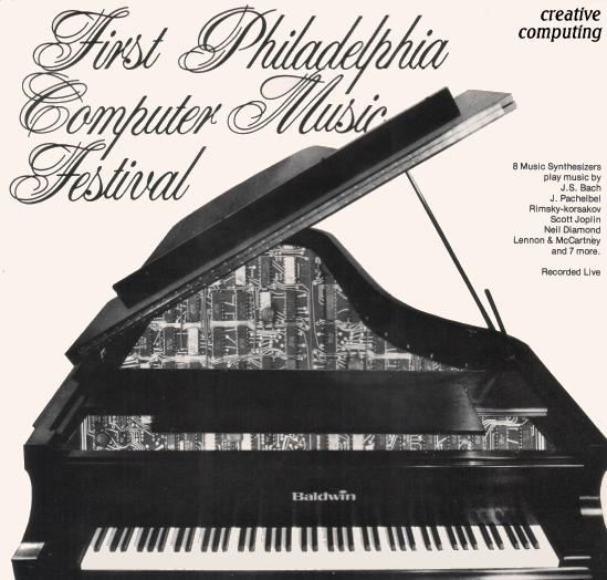 Philadelphia Computer Music Festival 12-in LP jacket