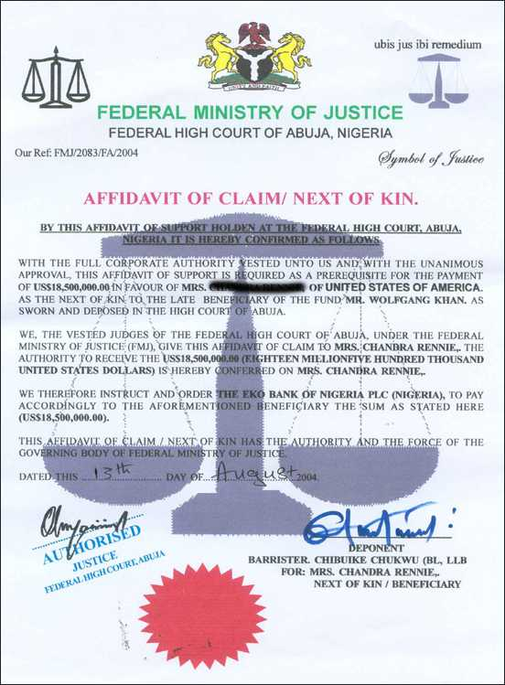 Used Car Frauds >> 30 phony documents used in Nigerian 4-1-9 frauds and car ...