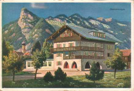 Oberammergau Passion Play 1930 postcard