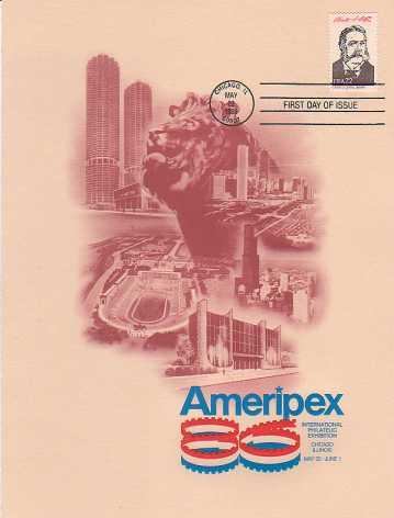1986 Presidentail stamp FDC on Ameripex Program