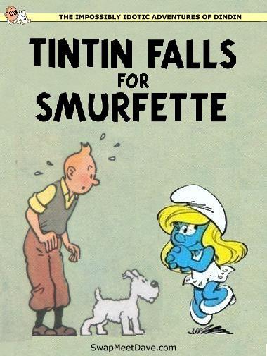 Design A Tintin Cover Parody Imitation Farce Staire