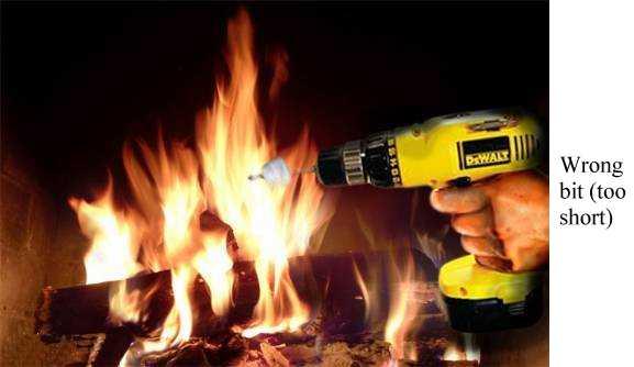 Hnadyman Humor - Power Drill - Correct and Incorrect Use.