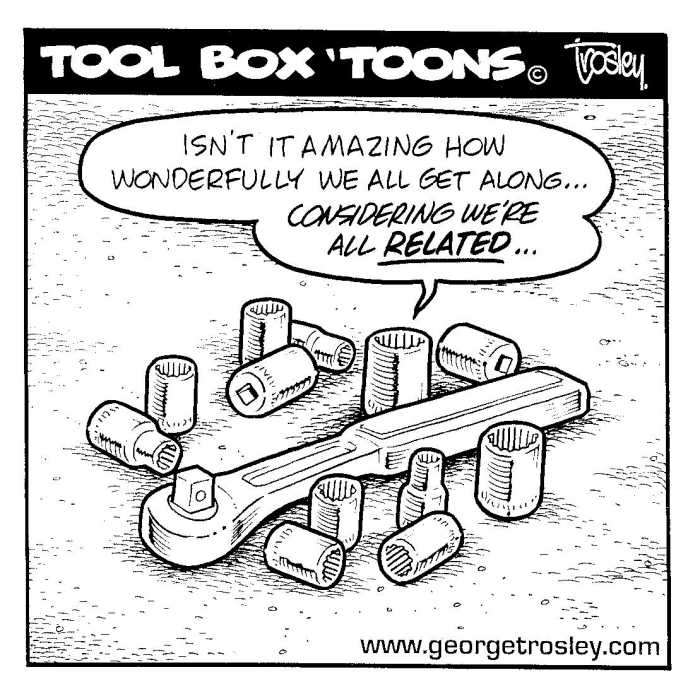 Street Rodder Magazine >> Tool Box 'Toons by George Trosley.