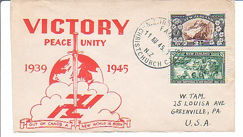 WWII postal history and patriotic covers - Used in foreign